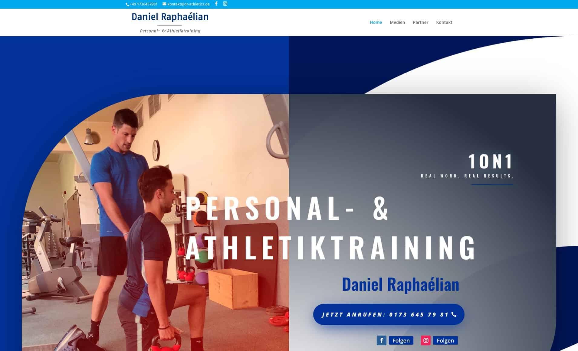 Webseite DR Athletics